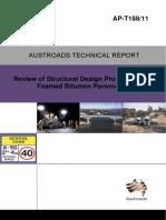 AP-T188-11- Review of Structural Design Procedures for Foamed Bitumen Pavements
