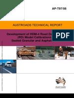 AP-T97 08 Development of HDM-4 Road Deterioration - RD - Model Calibrations for Sealed Granular and Asphalt[1]