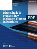 Máster en Dirección de Producción y Mejora en Procesos Industriales