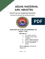 Plan de Gobierno de Ppk y Keiko - Grupo 5