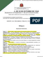 Lei Nº 10.261_68 Estatuto Dos Funcionários Públicos Civis Do Estado de São Paulo (Atualizado)