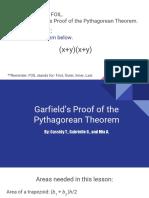 garfield proof of pythagorean theorem