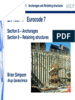 Anchorages and Retaining Structures