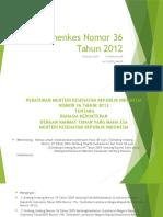 Permenkes 36 TAHUN 2012