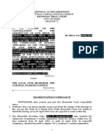 Manifestation/Compliance