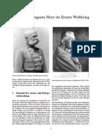 Österreich-Ungarns Heer Im Ersten Weltkrieg