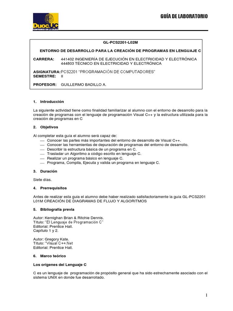 Gl Pcs2201 L02m Entorno De Desarrollo Para La Creación De