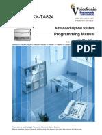 KX-TA824 Programming Manual