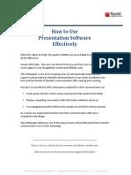 Mandel-How to Use Presentation Software Effectively v6 13