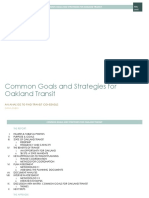 Common Goals and Strategies for Oakland Transit