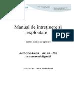 Manual de Exploatare BC20-150