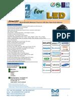 EtraLED-8550 Modular Passive LED Star Heat Sink Φ85mm