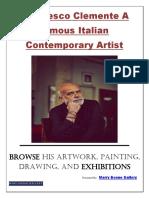 Francesco Clemente A famous Italian Contemporary Artist