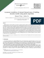 Parameter estimation of internal thermal mass of building dynamic models using genetic algorithm 2005.pdf