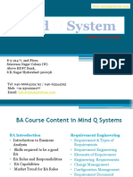 BA Course Content in Mind Q Systems