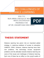 issues and challenges of distance learning
