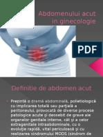 Abdomen Acut in Ginecologie