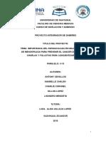 Importancia Del Papanicolaou en Mujeres en Etapa de Menospaucia Para Prevenir El Cancer Del Utero Con Charlas y Folletos Para Concientizar El Tema......... Terminado