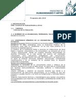 Programa Residencia Docente 2016