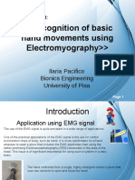 Recognition of Basic Hand Movements Using Electromyography