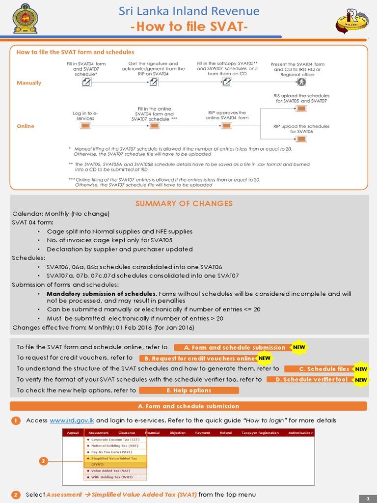 SVat Quick Guide | Invoice | File Format