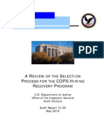 DOJ Inspector General's Audit of the COPS Program