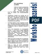 Workshop Inspection Checklist