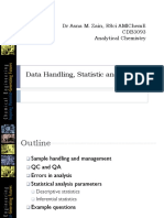 CDB 3093 Data Handling, Statistic and Errors