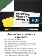 DEFECTOS UTERINOS Y VAGINALES- ENFEREMEDADES