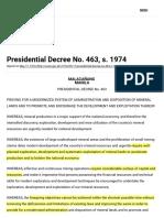 Presidential Decree No. 463