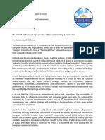 Brief van aan vakbonden en maatschappijen staatssecretaris Dijksma