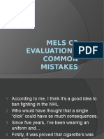 mels prep 2014 common mistakes
