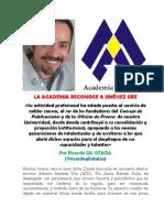 Academia de Mérida Reconoce a Jiménez Ure (1)
