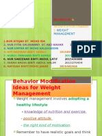 Behaviour & Attitude Modifications Towards Weight Management