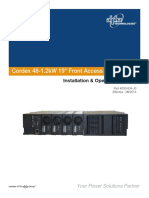 Manual Cordex 48Vdc