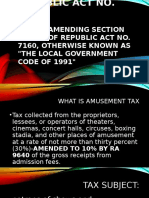 amusement tax