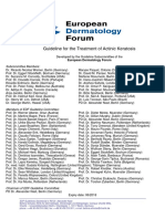 Guideline for the Treatment of Actinic Keratosis 2015