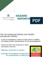 Hazard Reporting