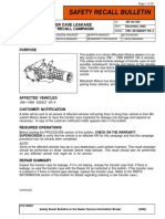 Mitsubishi Transfer Case Recall Bulletin