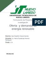 Oferta y demanda de enegias renovables investigacion