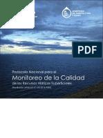 protocolo nacional para el Monitoreo Calidad de Agua