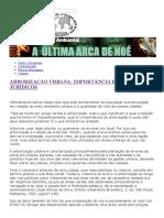 Arborização Urbana_ Importância e Aspectos Jurídicos - A Última Arca de Noéa Última Arca de Noé