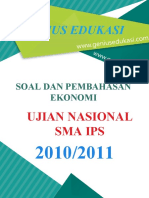 Soal Dan Pembahasan UN Ekonomi SMA IPS 2010-2011