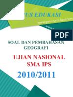 Soal Dan Pembahasan UN Geografi SMA IPS 2010-2011