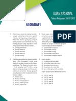 Soal Dan Pembahasan UN Geografi SMA IPS 2011-2012
