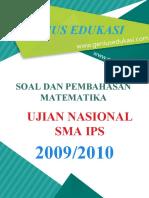 Soal Dan Pembahasan UN Matematika SMA IPS 2009-2010