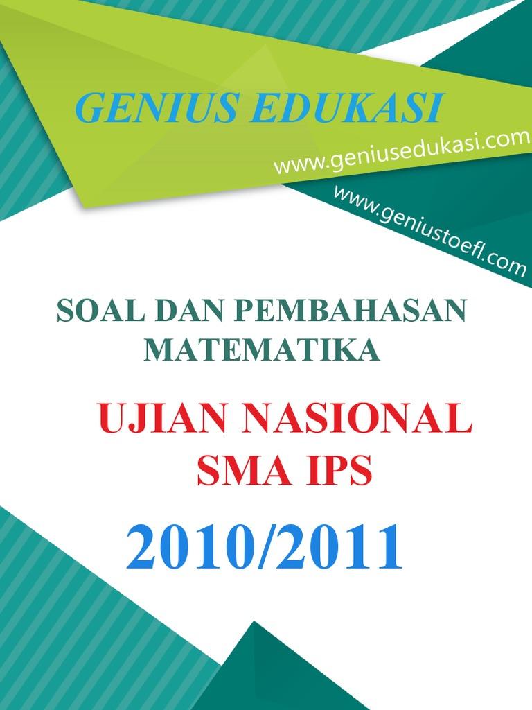 Soal Dan Pembahasan Un Matematika Sma Ips 2010 2011