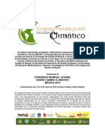 Convocatoria del congreso juvenil sobre cambio climático