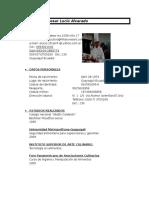 CV WORD Chef Cesar Lucio Alvarado