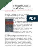Ayuno de Ramadán, Uno de Los Pilares Del Islam